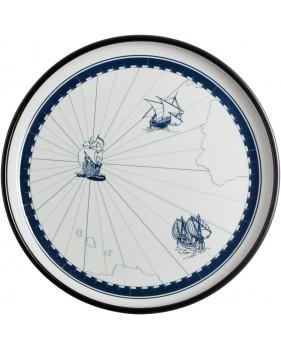 """Assiettes plates à motifs bateaux - """"COLUMBUS"""""""