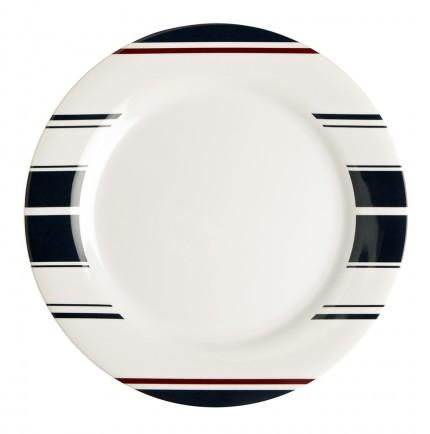 Assiettes plate antidérapante à rayures