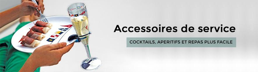 Accessoires à cocktails et boissons pour bateau.